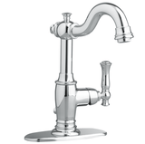 "American Standard bathroom sink faucet Polished Chrome American Standard  ""Quentin"" Single Hole Bathroom Sink Faucet"