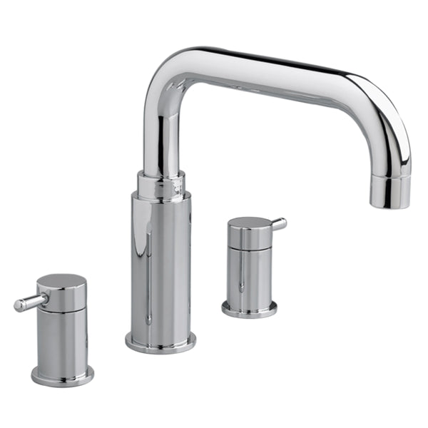 "American Standard bathtub faucet Polished Chrome American Standard ""Serin"" Chrome Deck Mount Tub Faucet"