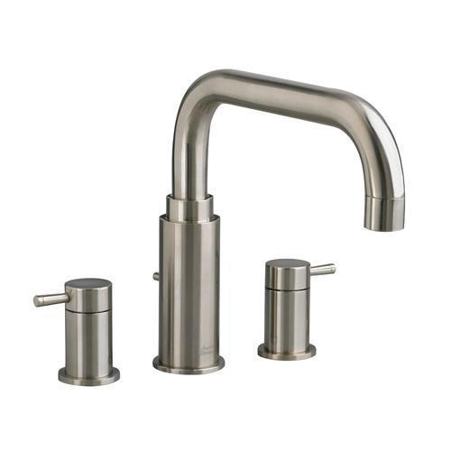 "American Standard Deck Mount Faucet Brushed Nickel American Standard ""Serin"" Deck Mount Tub Faucet"