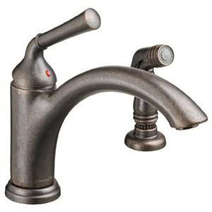 American Standard Faucet With Sidespray Oil Rubbed Bronze American Standard Portsmouth Single Hole Kitchen Faucet With Sidespray