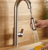 "American Standard kitchen faucet American Standard ""Beale"" Chrome Hands Free Electronic Pull-Down Kitchen Faucet"