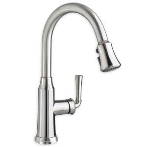 American Standard Kitchen Faucet American Standard Portsmouth Pullout Spray Single Hole Kitchen Faucet Polished Chrome