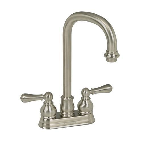 "American Standard kitchen faucet Brushed Nickel American Standard ""Hampton"" 4'' Centerset Bar Faucet"