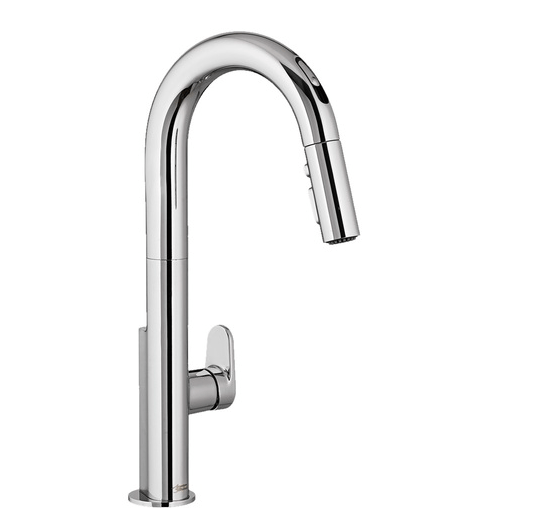 "American Standard kitchen faucet Chrome American Standard ""Beale"" Chrome Hands Free Electronic Pull-Down Kitchen Faucet"
