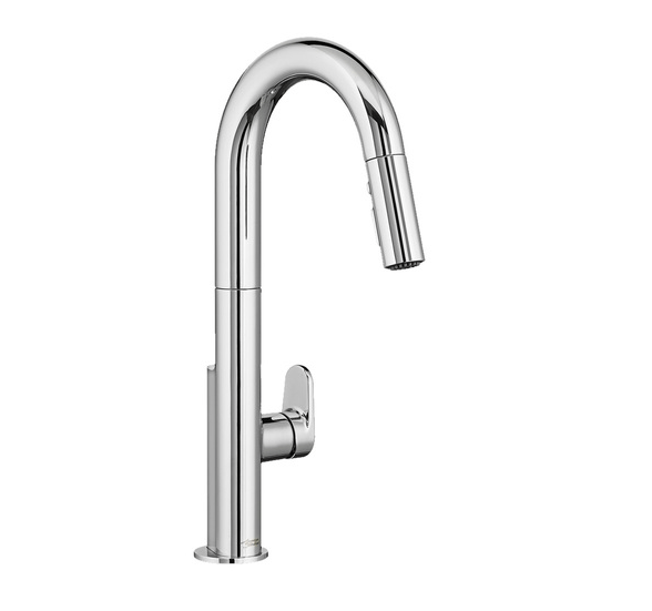 "American Standard kitchen faucet Chrome American Standard ""Beale"" Chrome Pull-Down Kitchen Faucet"