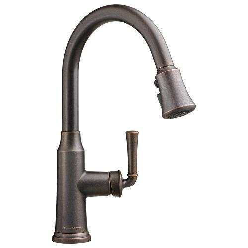 "American Standard kitchen faucet Oil Rubbed Bronze American Standard ""Portsmouth"" Pull-Out Spray Kitchen Faucet"