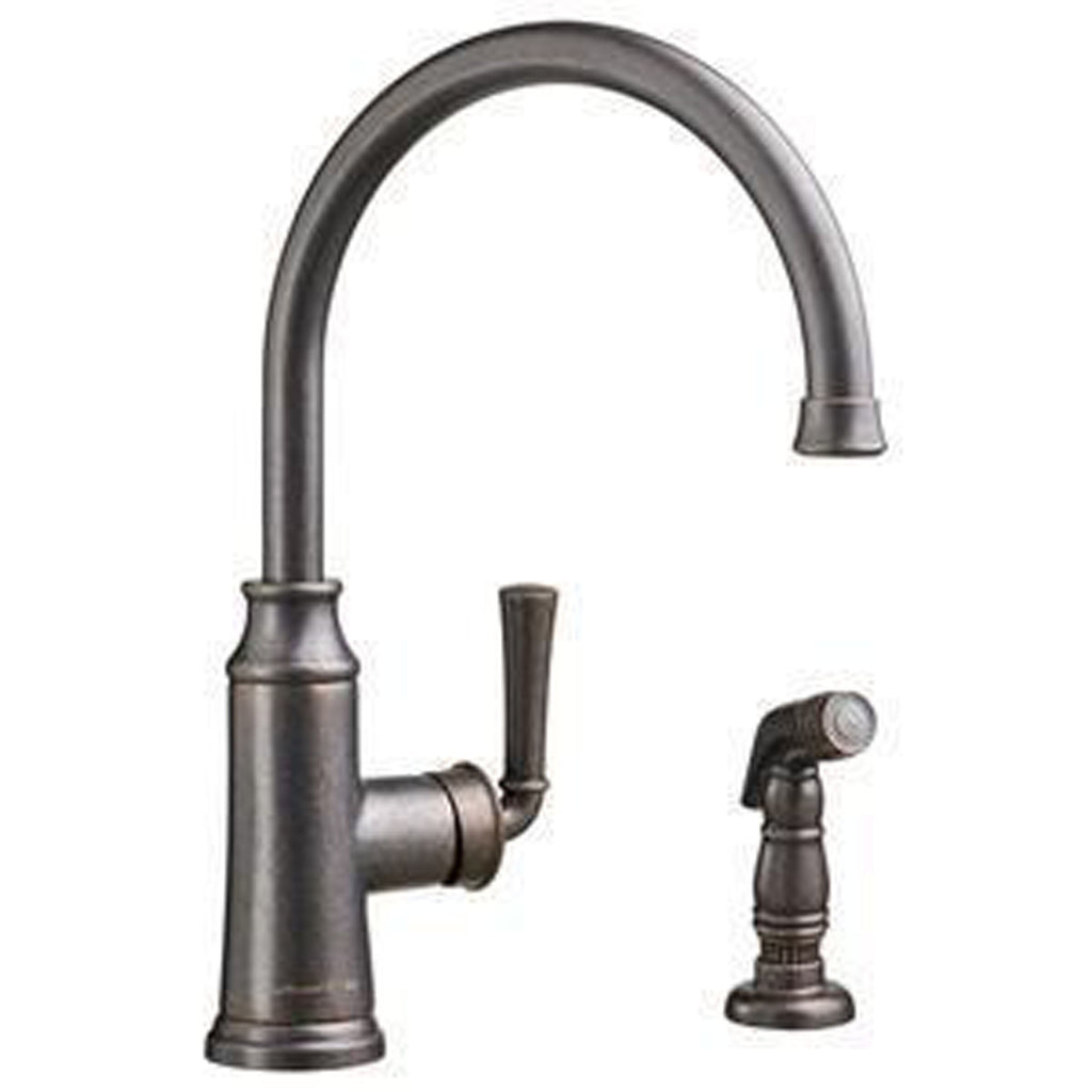 "American Standard Kitchen Faucet Oil Rubbed Bronze American Standard ""Portsmouth"" Single Handle Kitchen Faucet"