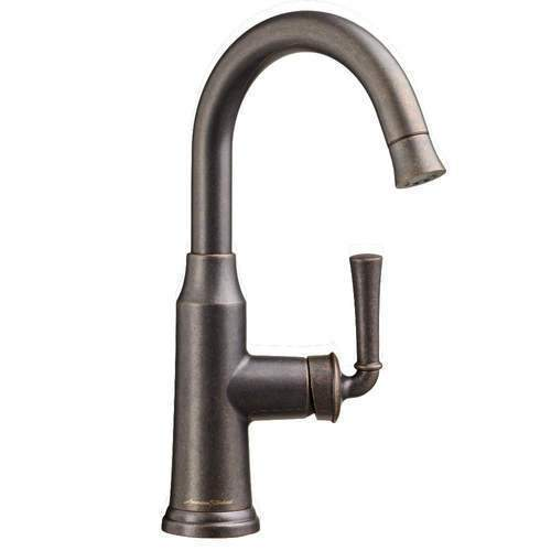 "American Standard kitchen faucet Oil Rubbed Bronze American Standard ""Portsmouth"" Single Hole Bar Faucet"