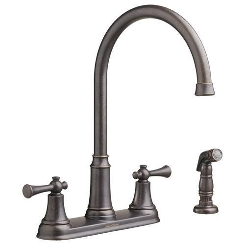 "American Standard kitchen faucet Oil Rubbed Bronze American Standard ""Portsmouth"" Two Handle Kitchen Faucet"
