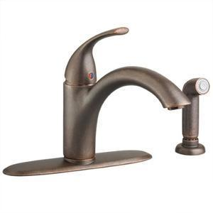 "American Standard Kitchen Faucet Oil Rubbed Bronze American Standard ""Quince"" Single Handle Kitchen Faucet"
