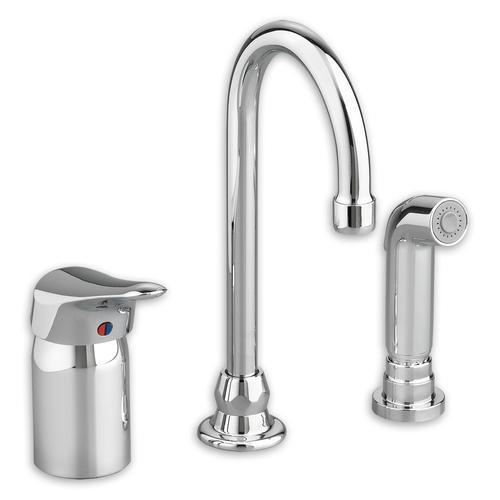 "American Standard Kitchen Faucet Polished Chrome American Standard ""Monterrey"" Single Handle Kitchen Faucet Sc Remote Vlv, 5"" Gn, 1.5 Gpm, Spray"