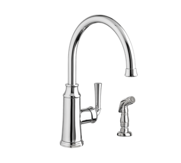 "American Standard kitchen faucet Polished Chrome American Standard ""Portsmouth"" Chrome Single Handle Kitchen Faucet"
