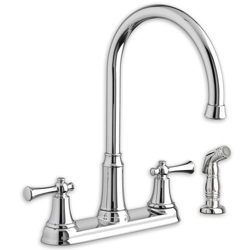 "American Standard kitchen faucet Polished Chrome American Standard ""Portsmouth"" Two Handle Kitchen Faucet"