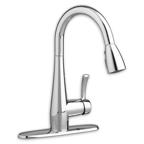 "American Standard kitchen faucet Polished Chrome American Standard ""Quince"" Pull-Out Spray Kitchen Faucet"