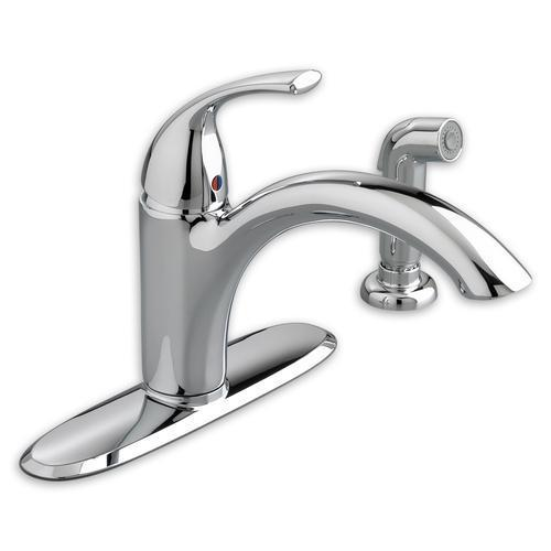 "American Standard kitchen faucet Polished Chrome American Standard ""Quince"" Single Handle Kitchen Faucet"