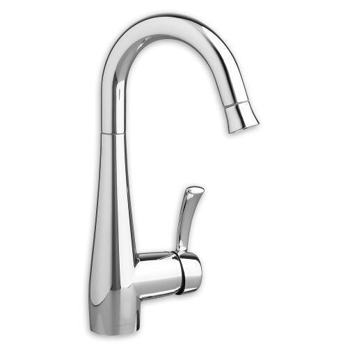 "American Standard kitchen faucet Polished Chrome American Standard ""Quince"" Single Hole Bar Faucet"