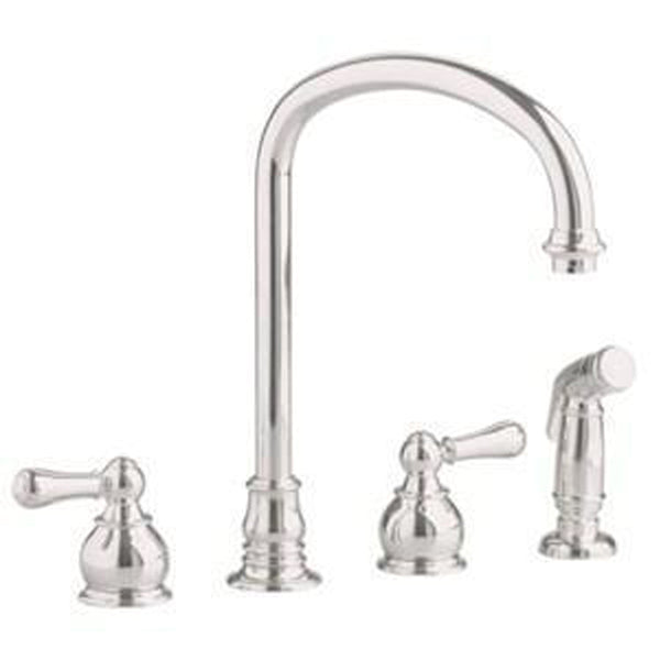 "American Standard Kitchen Faucet Satin American Standard ""Hampton""  Kitchen Faucet With Spray"