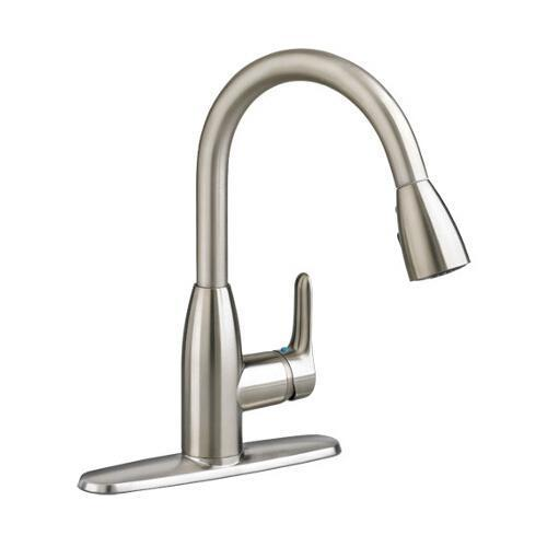 "American Standard Kitchen Faucet Stainless Steel American Standard ""Colony Soft"" Pull-Out Spray Kitchen Faucet"