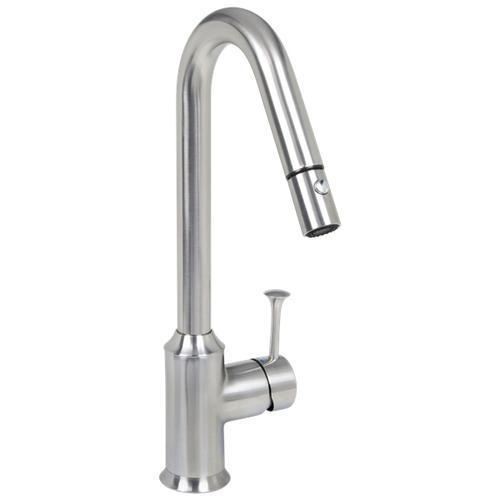 "American Standard Kitchen Faucet Stainless Steel American Standard ""Pekoe"" Pull-Out  High-Arc Spray 1.5Gpm Kitchen Faucet"