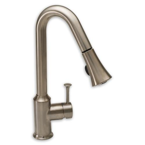 "American Standard kitchen faucet Stainless Steel American Standard ""Pekoe"" Pull-Out Spray Kitchen Faucet"