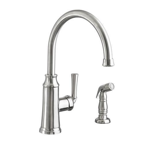 "American Standard kitchen faucet Stainless Steel American Standard ""Portsmouth"" Single Handle Kitchen Faucet"