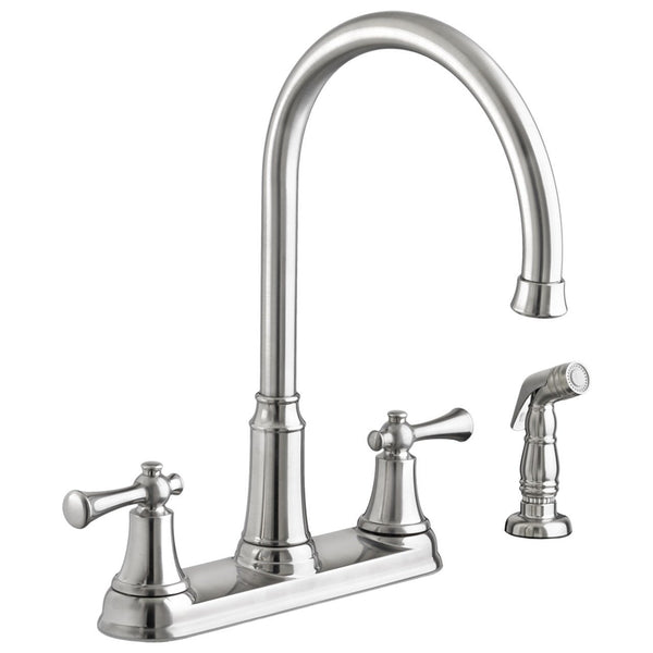 "American Standard kitchen faucet Stainless Steel American Standard ""Portsmouth"" Two Handle Kitchen Faucet"