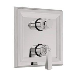 "American Standard Thermostatic Valve Trim Brushed Nickel American Standard ""Town Square"" Thermostatic Valve Trim"
