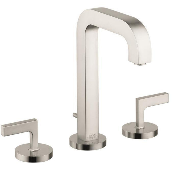 "Axor Bathroom Sink Faucet Brushed Nickel AXOR ""Citterio"" 8'' Widespread Bathroom Sink Faucet"