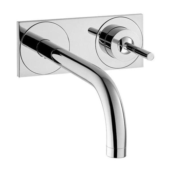 "Axor Bathroom Sink Faucet Brushed Nickel AXOR ""Uno 2"" Bathroom Sink Faucet Trim Kit"