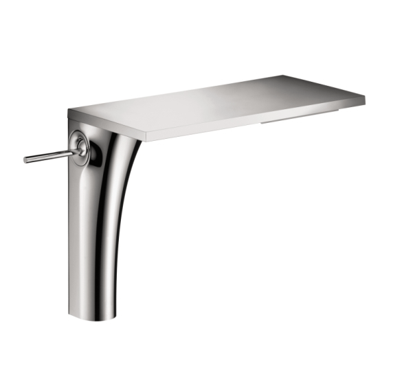 "Axor bathroom sink faucet Chrome Hansgrohe Axor ""Massaud"" Tall Single-Hole Faucet in Chrome"