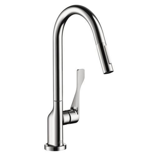 "AXOR Kitchen Faucet Chrome AXOR ""Citterio"" Pull-Out Spray Kitchen Faucet"