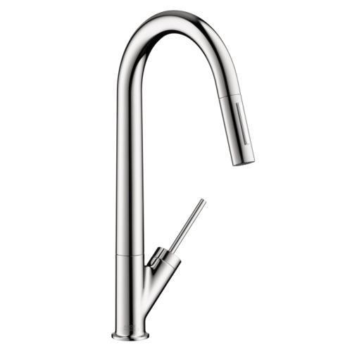 "Axor Kitchen Faucet Chrome AXOR ""Starck"" Pull-Out Spray Kitchen Faucet"