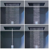 "Axor shower faucet Hansgrohe Axor ""Starck"" Steel Optik Shower Heaven"