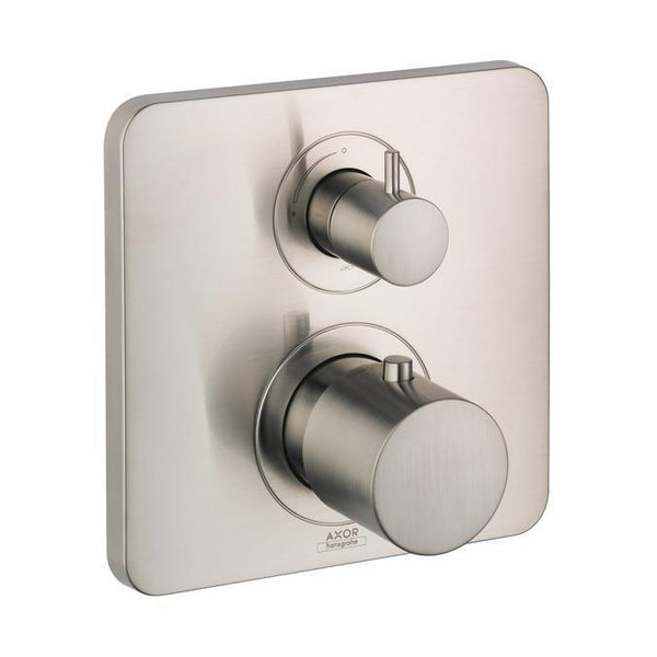 "Axor Valve Trim Brushed Nickel AXOR ""Citterio M"" Thermostatic Valve Trim"