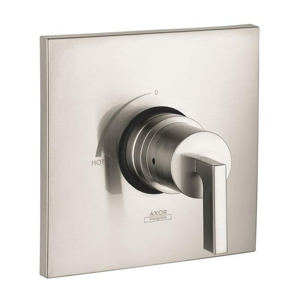 "Axor Valve Trim Brushed Nickel AXOR ""Citterio"" Non-Thermostatic Valve Trim"