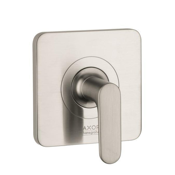 "Axor Valve Trim Brushed Nickel AXOR ""Citterio"" Volume Control Valve Trim"