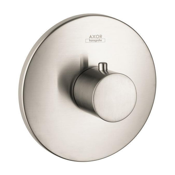 "Axor Valve Trim Brushed Nickel AXOR ""Uno"" Thermostatic Valve Trim"