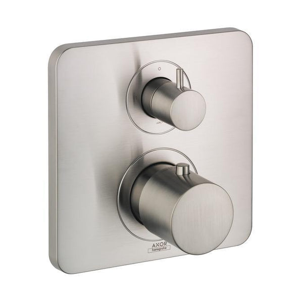 "Axor Volume Control Trim Brushed Nickel AXOR ""Citterio M"" Thermostatic / Volume Control Trim"