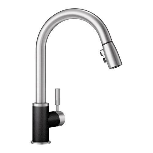 "Blanco Kitchen Faucet Stainless Steel / Anthracite Blanco ""Sonoma"" Pull-Out Spray Kitchen Faucet"