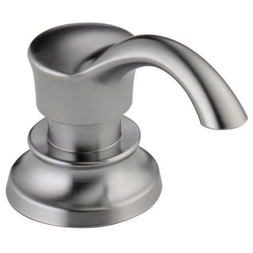 Delta Accessories Arctic Stainless Delta RP71543 Cassidy: Soap/Lotion Dispenser And Bottle
