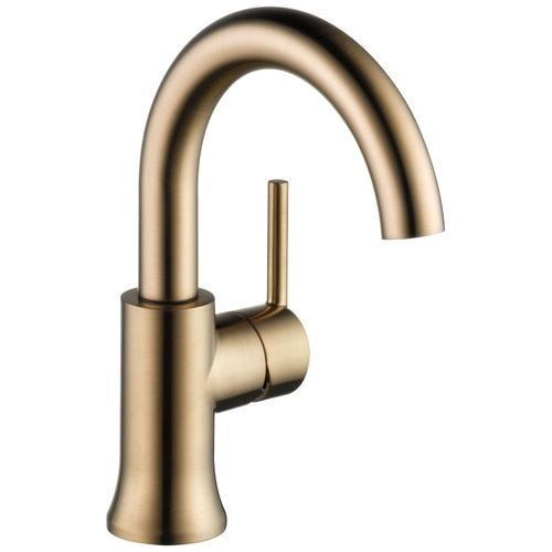 Delta bathroom sink faucet Champagne Bronze Delta Trinsic: Single Handle High-Arc Lavatory Faucet