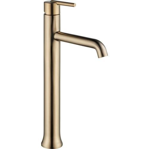 Delta bathroom sink faucet Champagne Bronze Delta Trinsic: Single Handle Vessel Lavatory Faucet
