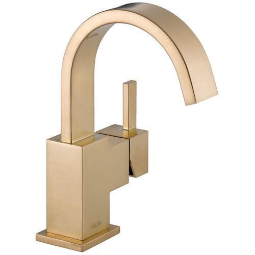 Delta bathroom sink faucet Champagne Bronze Delta Vero: Single Handle Lavatory Faucet