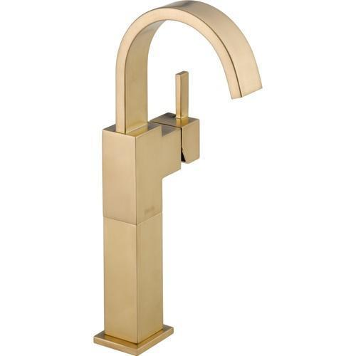 Delta bathroom sink faucet Champagne Bronze Delta Vero: Single Handle Vessel Lavatory Faucet