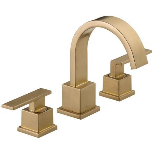 Delta bathroom sink faucet Champagne Bronze Delta Vero: Two Handle Widespread Lavatory Faucet