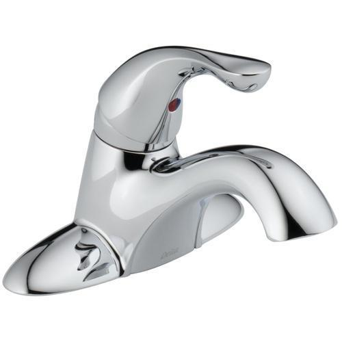 Delta bathroom sink faucet Chrome Delta Classic: Single Handle Centerset Lavatory Faucet - Less Pop-Up