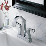 Delta bathroom sink faucet Delta Dryden: Two Handle Centerset Lavatory Faucet - Metal Pop-Up
