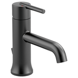 Delta bathroom sink faucet Matte Black Delta Trinsic: Single Handle Lavatory Faucet - Metal Pop-Up