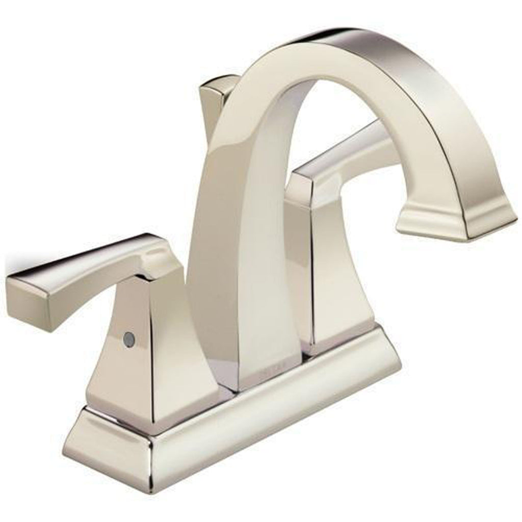 Delta bathroom sink faucet Polished Nickel Delta Dryden: Two Handle Centerset Lavatory Faucet - Metal Pop-Up