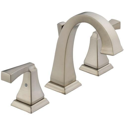 Delta bathroom sink faucet Spotshield Stainless Delta Dryden: Two Handle Widespread Lavatory Faucet